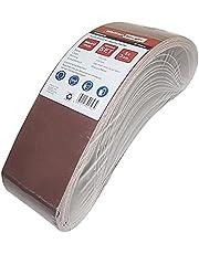 Woltersberger® Weefsel-schuurbanden, 15 stuks, afmeting 100 x 915 mm, elk 3 banden in korrel K80, K120, K150, K240, K400, schuurband, bandschuurpapierset