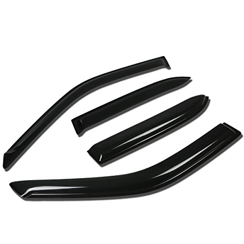 Corolla/Prizm 4pcs Tape-On Window Visor Deflector Rain Guard (Prizm Toyota Corolla)