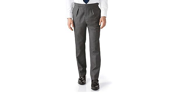 Charles Tyrwhitt Pantalones de chaqué Gris Oscuro de Corte clásico ...