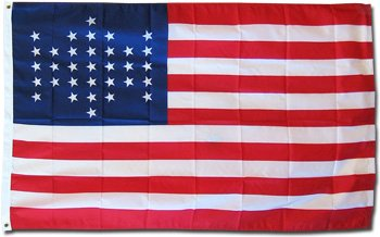 Union Civil War (Fort Sumter/33 Stars) - Historical Flag 3x5' Polyester (Union Flag)