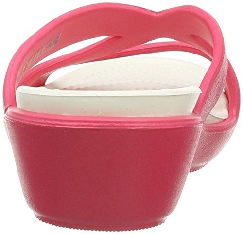 crocs Damen Patricia Ii Durchgängies Plateau Ballerinas Pink (Poppy/Oyster)
