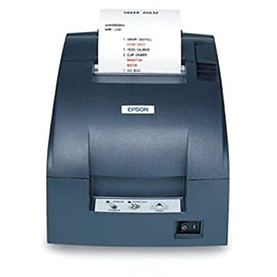Epson C31C514A8071 TM-U220B Dot Matrix Receipt Printer with Power Supply, 9 Pin, Compact Flash Wireless 802.11A/B/G/N (R04), Autocutter, Dark Gray