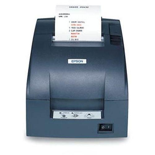 Epson C31C514A8071 TM-U220B Dot Matrix Receipt Printer with Power Supply, 9 Pin, Compact Flash Wireless 802.11A/B/G/N (R04), Autocutter, Dark Gray ()