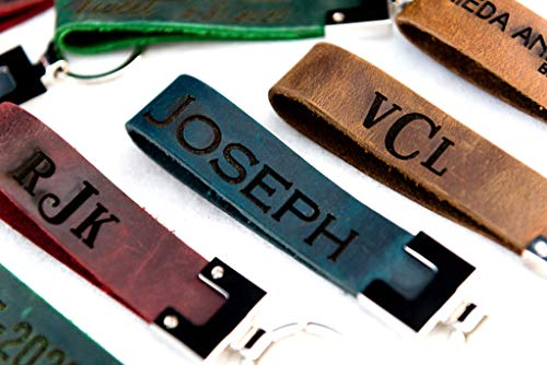 Personalized Distressed Leather Keychains, Engraved The San Blas Keychain