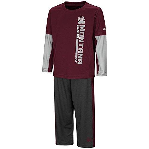 Colosseum Toddler Montana Grizzlies Long Sleeve Tee Shirt and Sweatpants Set - 5T (Grizzlies Sweatpants)