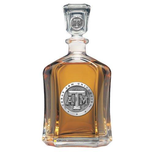 Texas A&M Aggies Glass Capitol Decanter (Spirit Holder) 24 oz - NCAA College ()