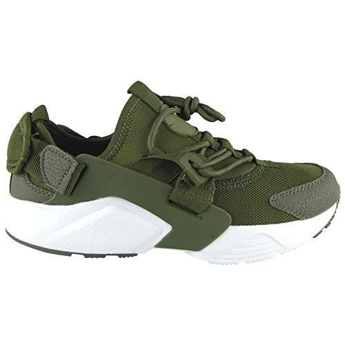 Size 8 Lace Womens Look up Running Fitness Loud Ladies Shoes Comfy Trainers Sports Flat Gym 3 Green xOTqwUZU