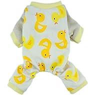 Fitwarm Duck Dog Pajamas/Clothes, Jumpsuit, Medium