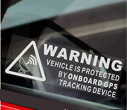 Platinum Place Stickers 5 x WAARSCHUWING Aan boord GPS Tracking Apparaat Voertuigborden Beschermd door Auto Van Boot…