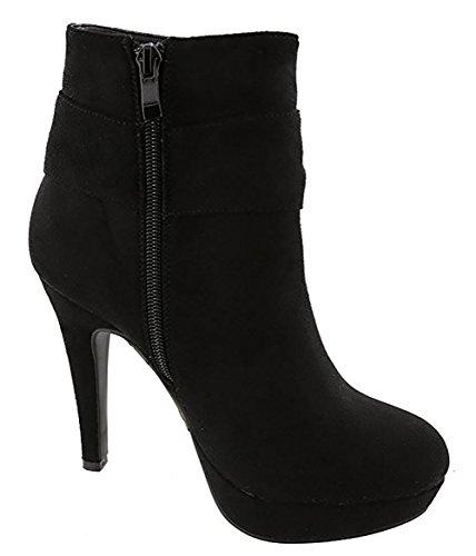 Women's No-Heel Frosted Low-Top Solid Zipper Boots
