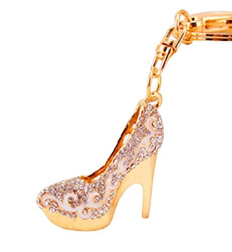- Clearance Sale!DEESEE(TM) Creative Key Chain Key Chain Women Shoes High Heels Key Chain (C)