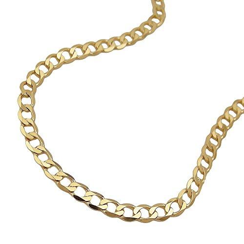 Bracelet Gourmette, 19cm, Ouvert, or 14K