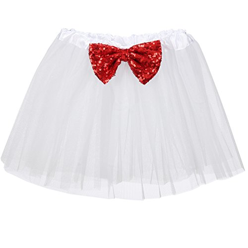 [Cilucu Girls Tutu Skirts Three Layers with Sequin Vintage 2-8T Red White July 4th Clothing] (4th Of July Costumes For Toddlers)