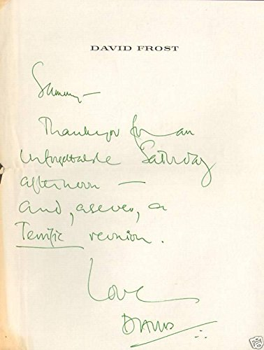 David Frost Hand Written Signed Personal Letter to Sammy Davis Jr LOA - PSA/DNA - Letter Signed Personal