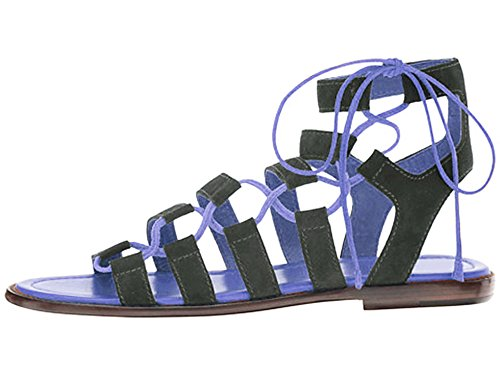 Blue Vestir Sandalias Mujer de Black and Para 11sunshop qFw600