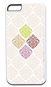 02-Damasks- Case for the APPLE iphone 5C ONLY!!!-NOT COMPATIBLE WITH THE iphone 5C !!!-Hard White Plastic Outer Case by kobestar