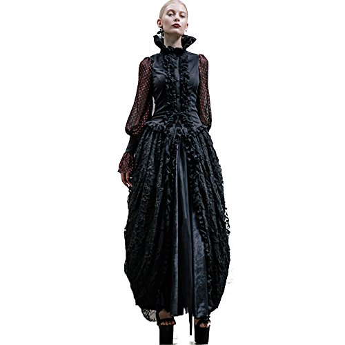 Devil Fashion Lolita Women's Skirts Palace Long Maxi Skirts Victorian Prom Ball Gowns