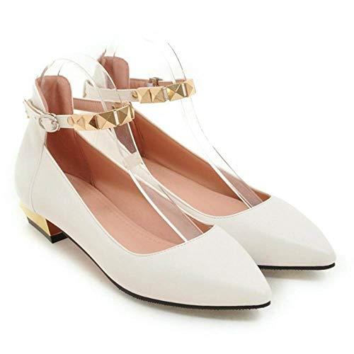 Heel Shoes Melady Low Fashion White Women Court UqXqtnZwv