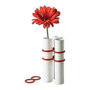Amazon De Ikea Livat Vase Weiss Deko 3 Rot Blume Aus Der Hochzeit