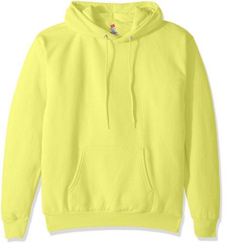 Bike Racks Recycled Plastic - Hanes Men's Pullover EcoSmart Fleece Hooded Sweatshirt, Safety Green 3XL