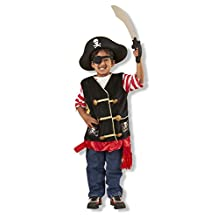 Melissa & Doug Pirate Role Play Costume Dress-Up Set With Hat, Sword, and Eye Patch