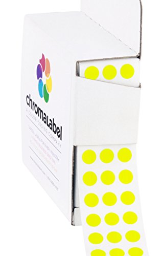 "1/4"" Fluorescent Yellow, Color-Coding Dot Stickers 