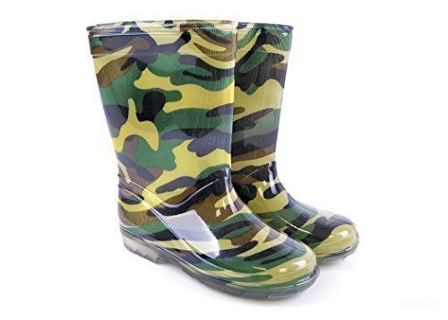Mudrocks Child's Camouflage Pvc Wellington Boots Uk 10 ( Eu 28 ) Multicolour ()