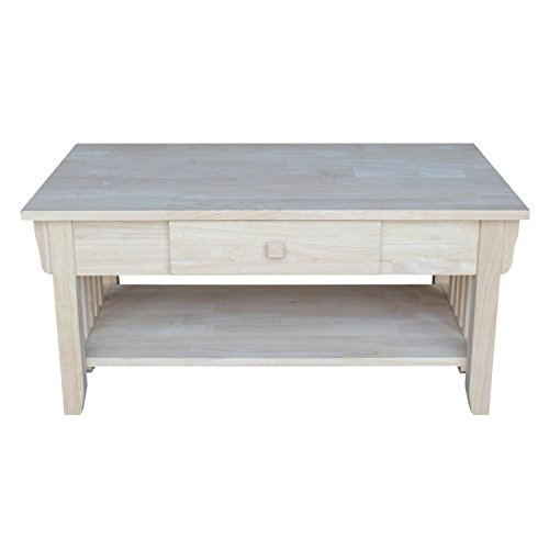 International Concepts OT-61C Mission Coffee Table, Unfinished