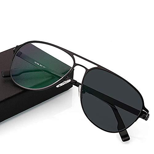 Z&HA Reading Glasses for Men and Women, Smart photochromic Sunglasses, Aviator Glasses, Elderly Reading Glasses/Ultra-Light Fashion,01,+100