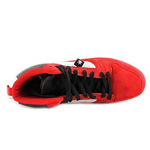 DC Shoes Landau High Unrestricted - Zapatillas de Piel para hombre rojo y negro rot/wei�/schwarz