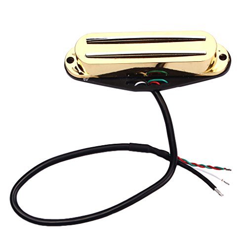 MonkeyJack Single Coil Guitar Pickup Humbucker for Fender Strat Tele Electric Guitar Parts - Gold ()