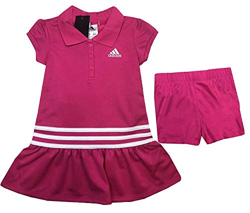adidas Girl's 2 Piece Polo Dress Set (Pink, 2T)