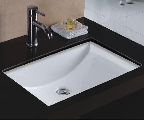 Buy Wells Sinkware Rectangular Vitreous Ceramic Lavatory Single Bowl Undermount White 22 x 16 x 6