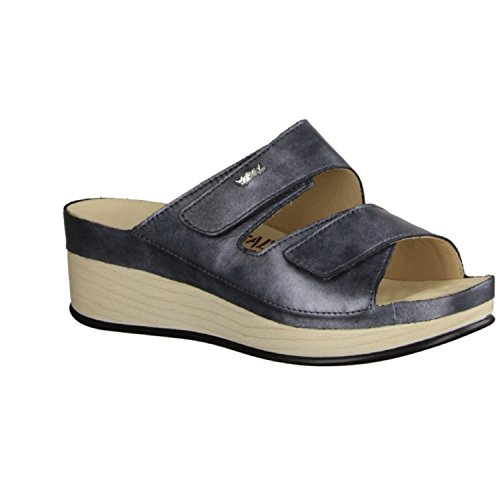 VITAL 1603-2190 - Chaussures femme Mule / Tongs, Gris, chassieux ( cuir ), hauteur talon: 35 mm