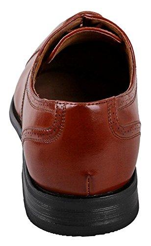 Delli Aldo Mens Wing Tip Dress Shoes | Comfortable Dress Shoes I Formal | Lace-Up | Classic Design | Brown dSMz8