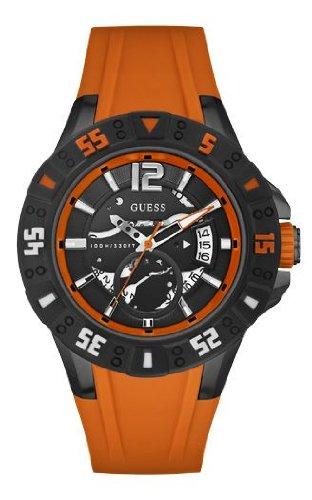 Analógico Silicona Color Cuarzo Naranja De W0034g8 Reloj HombreCorrea Para Guess Magnum QrthsxdC