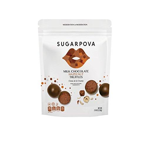 Sugarpova Milk Chocolate Hazelnut Truffles 6 Count