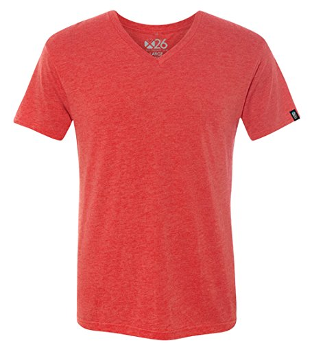 - Men's Tri-Blend Soft Wash Jersey V Neck Everyday Plain and Heather T-Shirts