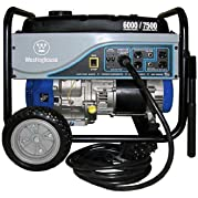 Westinghouse WH6000S Portable Generator with 25  Power Cord, 6000 Running Watts/7500 Starting Watts
