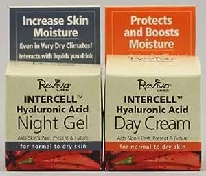 REVIVA InterCell Day Cream/Night Gel w/Hyaluronic Combo 1.25