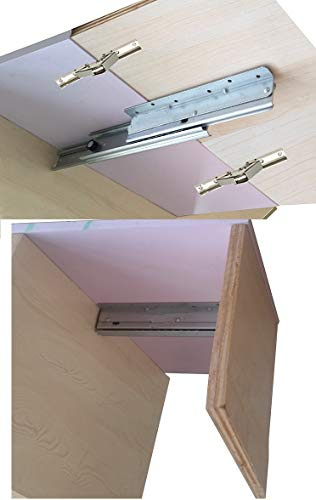 (Taco Mocho (1 Slide+2 Hinges/Lot extendable Table Slide Hardware Fitting Table top Extension RV Folding)