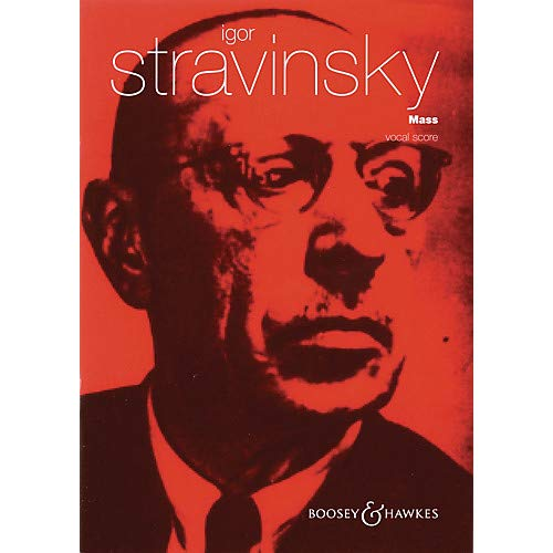 Double Wind Quintet - Mass (for Mixed Chorus and Double Wind Quintet) Vocal Score composed by Igor Stravinsky Pack of 2
