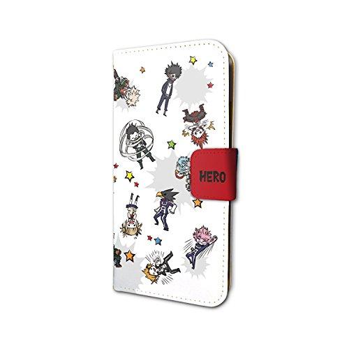 僕のヒーローアカデミア 02 雄英生&先生&敵連合(グラフアートデザイン) 手帳型スマホケース iPhone6/6S/7/8兼用