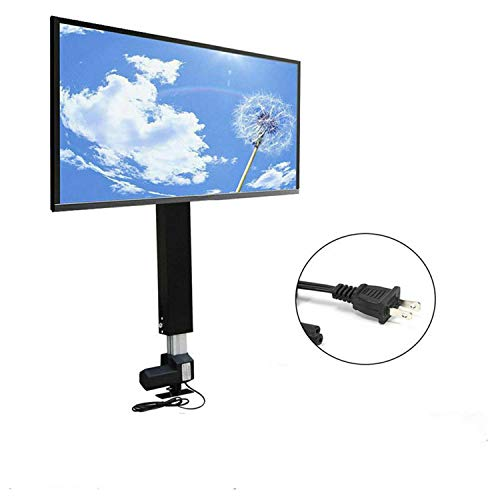 TV Lift Mount Bracket with Remote Controller Fit for 14″ – 32″ TV LCD Plasma Monitor Lift Motor 20″ Adjustable Stroke Cabinet Ceiling Electric TV Lift Mechanism Mount Mini Install Height 29″