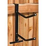 PVC Coated Double Saddle Rack - Black