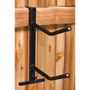 PVC Coated Double Saddle Rack - Black by Dover Saddlery