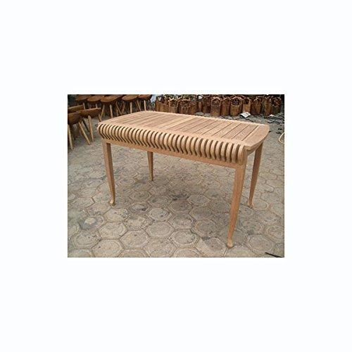 カステルテーブル[チーク材製のガーデンテーブル 幅120cm、奥行き71cm、高さ73cm] ノーブランド品 B07BBVYXKB
