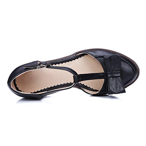 Sandales Balamasa Uréthane Asl05179 formes Femmes Noir Randonnée De Plates Toggle Charmes 8xrUwq6R8
