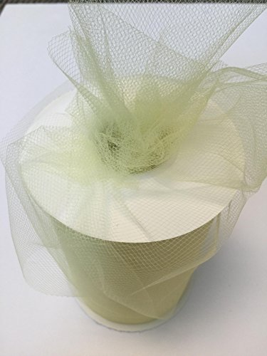 Tulle Fabric Spool/Roll 6 inch x 100 yards (300 feet), 34 Colors Available, On Sale Now! (baby maize) (Maize Color)