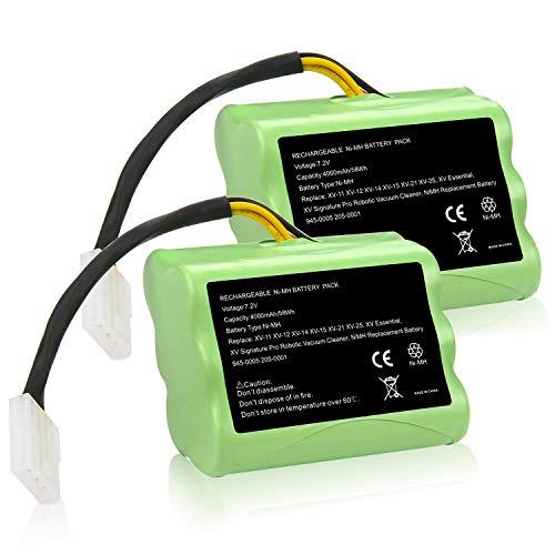 Fancy Buying [2 Pack] Upgraded 7.2V 4000mAh NI-MH Battery for Neato XV-11 XV-12 XV-14 XV-15 XV-21 XV-25, XV Essential, XV Signature Pro Robotic Vacuum Cleaners Neato Battery 945-0005 205-0001